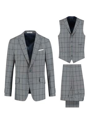 persignori Pakken Slimfit perSignori 3D fashion check bl.g 0069