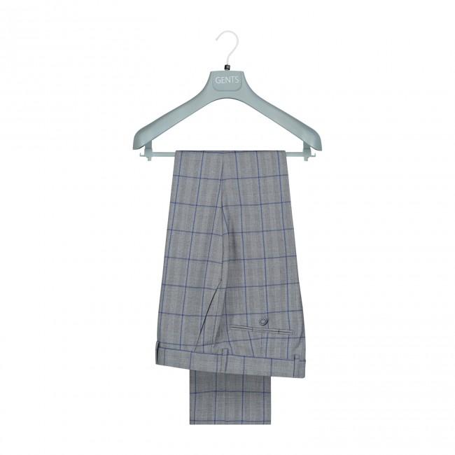 kostuum ruit grijs-blauw 0077| GENTS.nl | Hoogste kwaliteit voor de laagste prijs