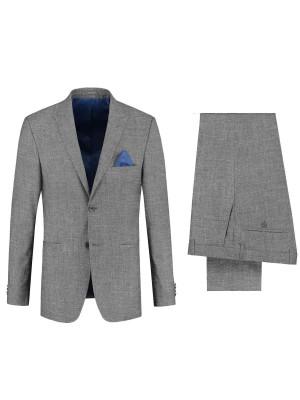 gents Pakken Slimfit Kostuum pickwick grijs 0086