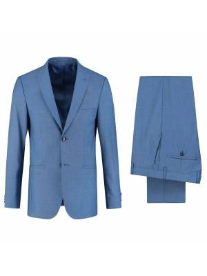 gents Pakken Slimfit Kostuum uni koningsblauw 0088