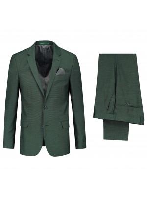 gents Pakken Slimfit Pak effen groen 2-delig 0089