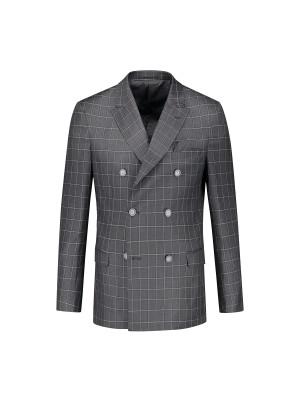 Pak double breasted grijs 2-d 0091| GENTS.nl | Hoogste kwaliteit voor de laagste prijs
