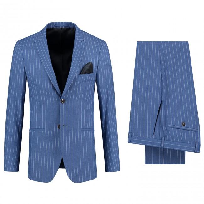 Pak streep blauw 0108| GENTS.nl | Hoogste kwaliteit voor de laagste prijs
