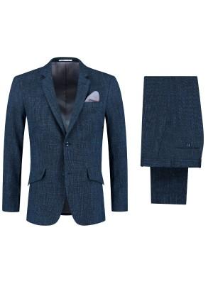 perSignori melee wollinnen blauw 0127| GENTS.nl | Hoogste kwaliteit voor de laagste prijs