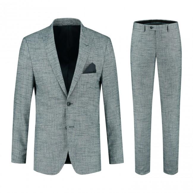 Pak melange grijsblauw 0132  GENTS.nl   Hoogste kwaliteit voor de laagste prijs