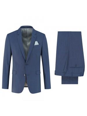 gents Pakken Modern Fit Pak Streep blauw 0027