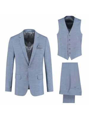 gents Pakken Modern Fit kostuum 3-delig melee lichtblauw 0031