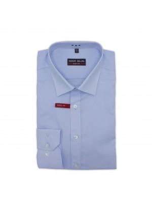 no label Shirts Marvelis body-fit blauw 0170