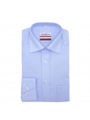 no label Shirts Marvelis modern-fit blauw 0179