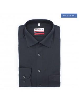 no label Shirts Marvelis modern-fit zwart ML7 0181