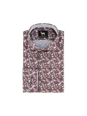 blumfontain Shirts Blumfontain retro print multicolor 0343