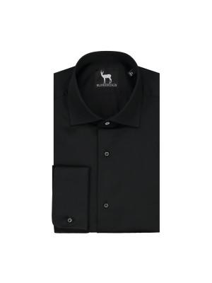 Smokingshirt kent studs zwart 0421