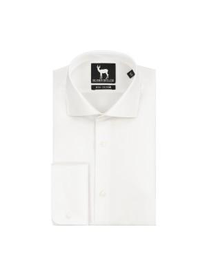 blumfontain Shirts Blumfontain dubbel manchet wit 0446