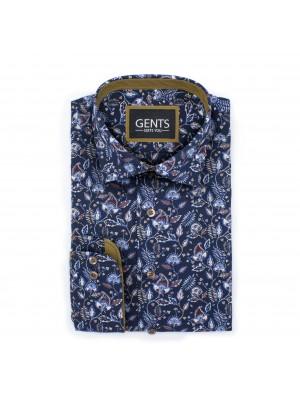 gents Shirts Overhemd Flowerprint multicolor 0476
