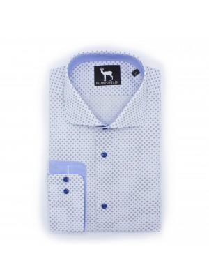 blumfontain Shirts Blumfontain print wit-blauw 0498