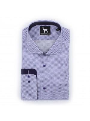 blumfontain Shirts Blumfontain structuur donkepaars 0499