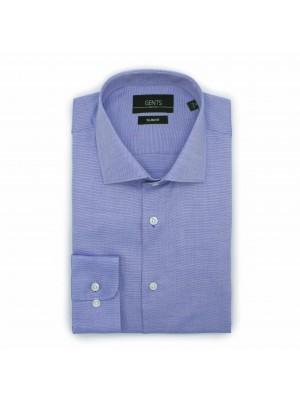 gents Shirts Overhemd slimfit oxford blauw 0501