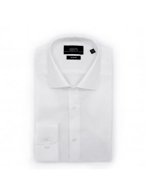 gents Shirts Overhemd slimfit oxford wit 0503