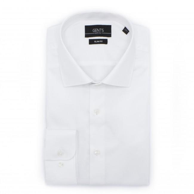 Overhemd slimfit wit 0504  GENTS.nl   Hoogste kwaliteit voor de laagste prijs