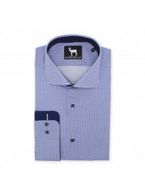 blumfontain Shirts Blumfontain print blauw-wit 0511