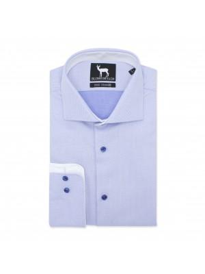 blumfontain Shirts Blumfontain NOS dobby lichtblauw 0515