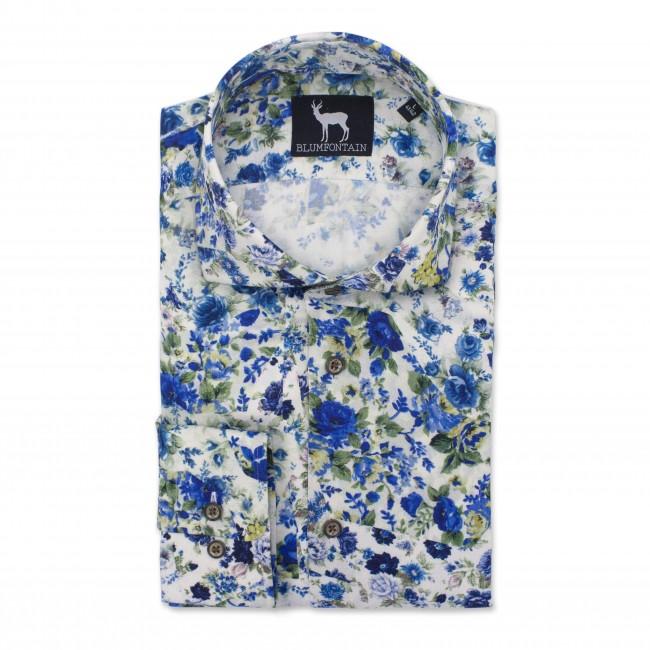 Blumfontain bloemprint bont wit 0537| GENTS.nl | Hoogste kwaliteit voor de laagste prijs