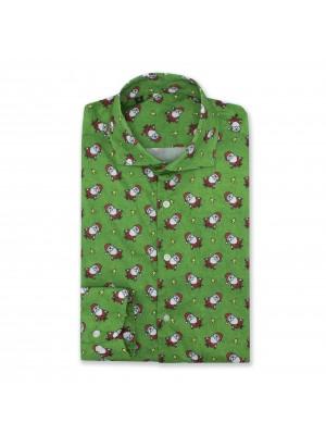 Kerstoverhemd groen 0553