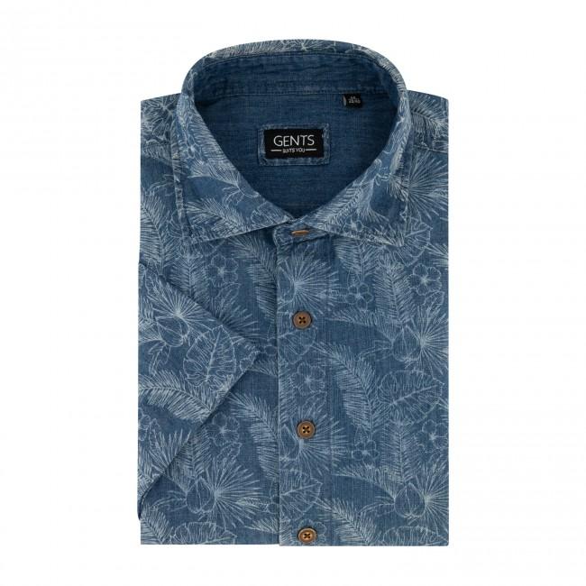 Overhemd print denim 0554| GENTS.nl | Hoogste kwaliteit voor de laagste prijs