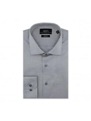 gents Shirts GENTS slimfit oxford zilvergrijs 0565