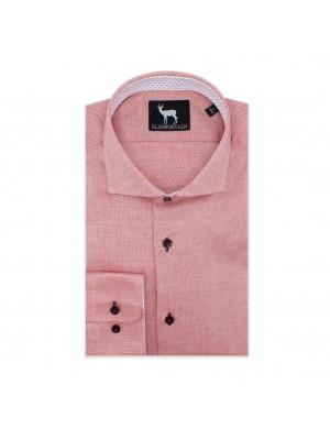 blumfontain Shirts Blumfontain uni contrast rood 0572