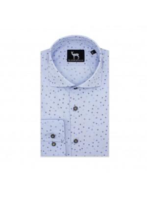 blumfontain Shirts Blumfontain print lichtblauw 0574