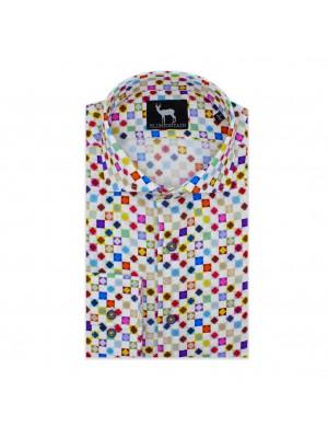 blumfontain Shirts Blumfontain print wit multicolor 0575