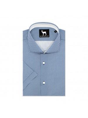 blumfontain Shirts Blumfontain korte mouw blauw 0597
