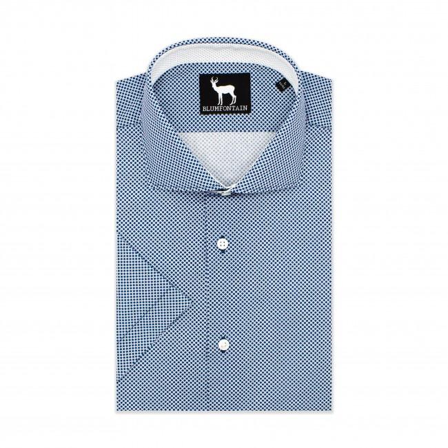 Blumfontain korte mouw blauw 0597| GENTS.nl | Hoogste kwaliteit voor de laagste prijs