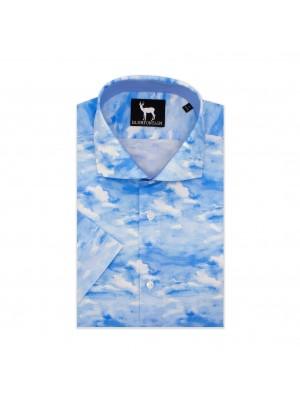 blumfontain Shirts Blumfontain korte mouw blauw 0600