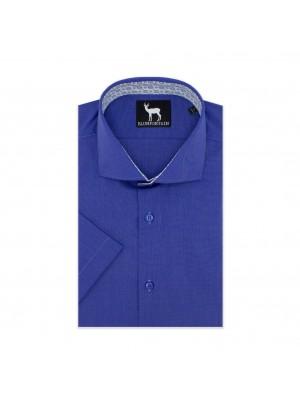 blumfontain Shirts Blumfontain KM fil-a-fil blauw 0604