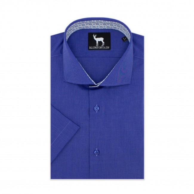 Blumfontain korte mouw blauw 0604| GENTS.nl | Hoogste kwaliteit voor de laagste prijs
