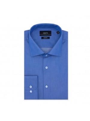 gents Shirts GENTS slimfit uni raf-blauw 0613
