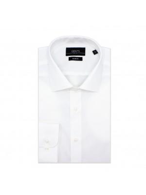 gents Shirts GENTS slimfit poplin wit 0616