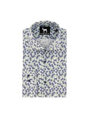 blumfontain Shirts Blumfontain bolletjes groenblauw 0663