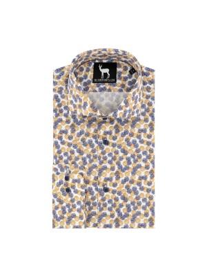 blumfontain Shirts Blumfontain bolletjes print oker 0664