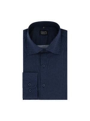 Overhemd polka dot blauw-wit 0672