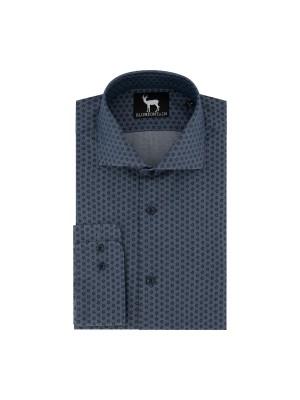 blumfontain Shirts Blumfontain print jeansblauw 0682