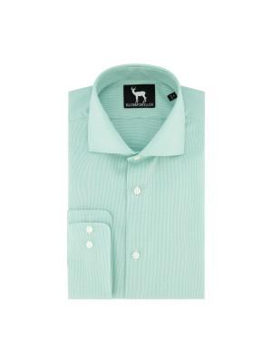 blumfontain Shirts Blumfontain ribstructuur groen 0683