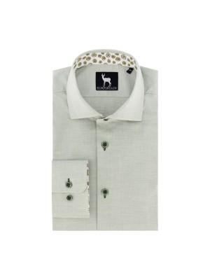 blumfontain Shirts Blumfontain uni groen 0689