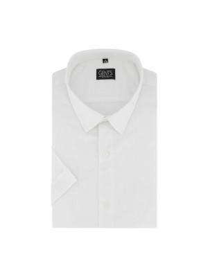 Korte mouw linnen katoen wit 0731