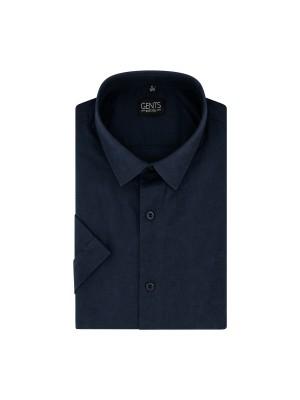Korte mouw linnen katoen blauw 0732