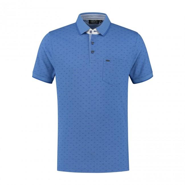 Polo print symbol blauw 0046| GENTS.nl | Hoogste kwaliteit voor de laagste prijs