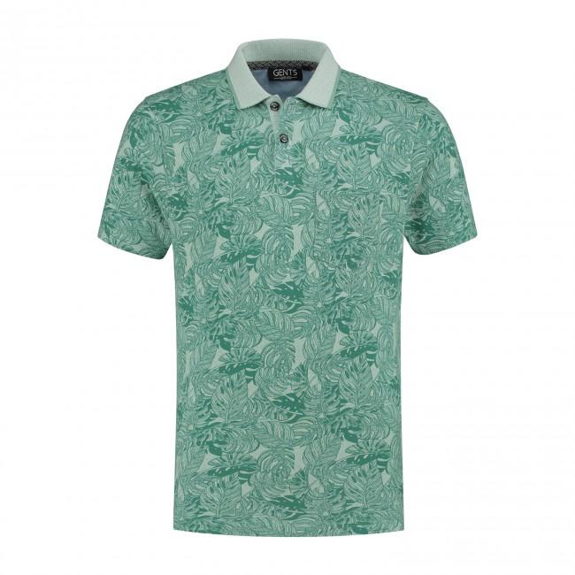 Polo print jungle groen 0049| GENTS.nl | Hoogste kwaliteit voor de laagste prijs