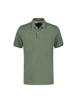 Polo uni groen 0056
